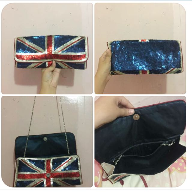 Monsoon/ Accessories Clutch 👛 And Shoulder Bag In a British Union Flag 🇬🇧design