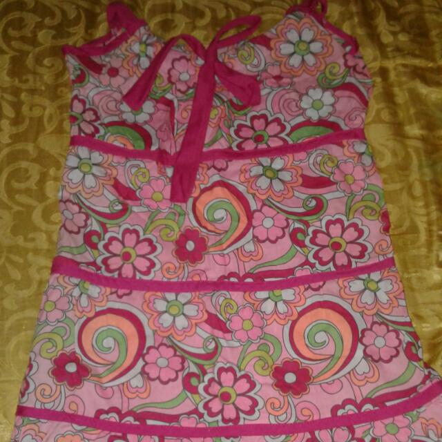 New Pink Floral Dress For Kids