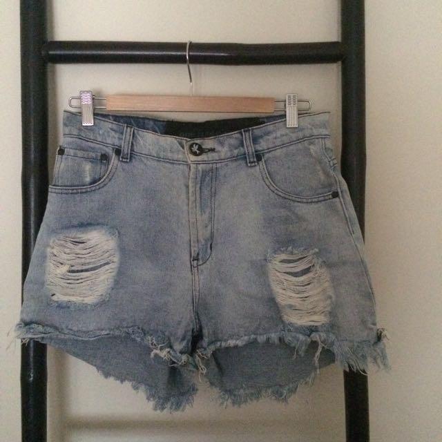 Oneteaspoon Festival Denim Shorts