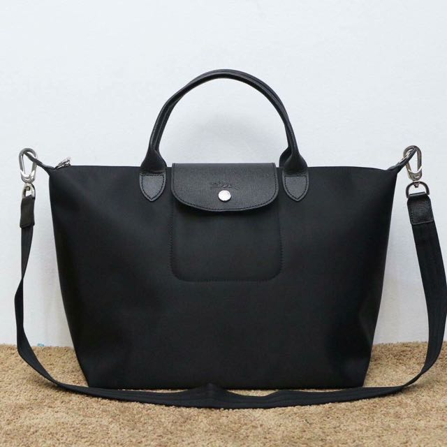 Original Longchamp Neo Short Handle Black