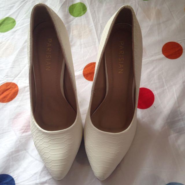 Parisian White heels