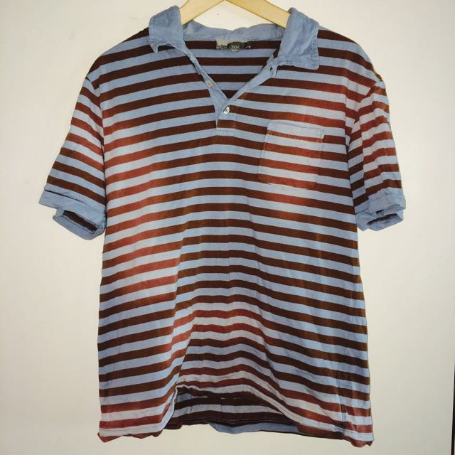 Politix Large Polo Shirt With Faded Look
