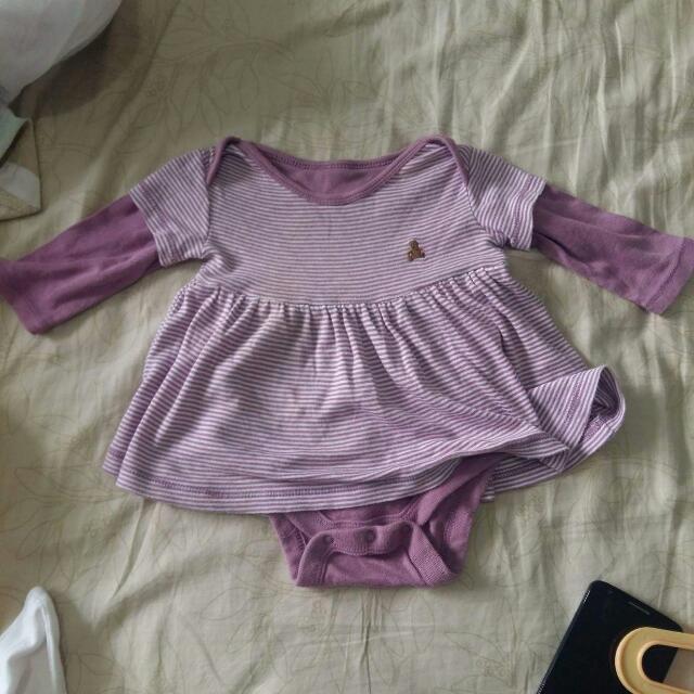 Purple Onesie Dress (3-6 mos)