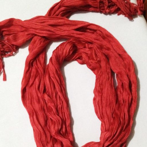 Red Scarf (no Brand) (PRELOVED)