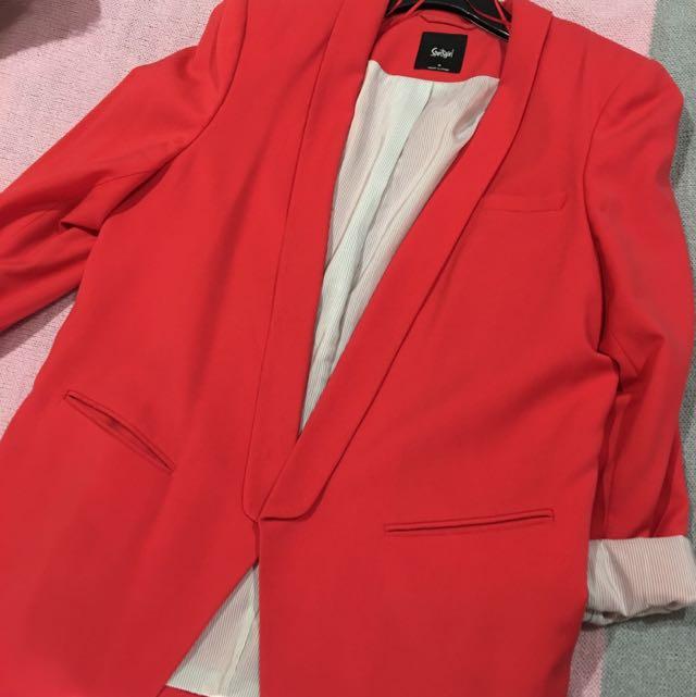 Red Sportsgirl Blazer