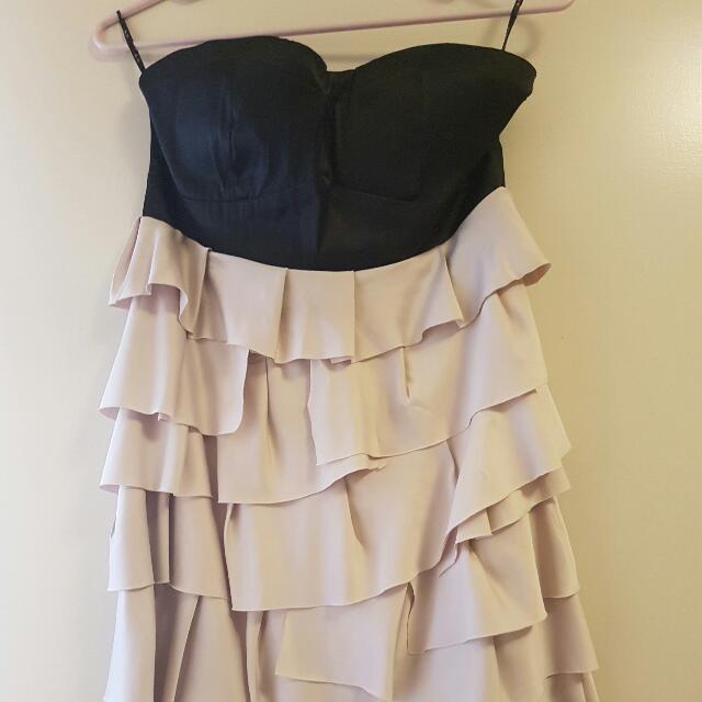 Ruffled Boobs Tube Dress Size 12