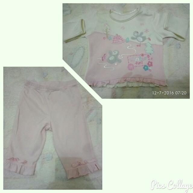 Snowflakes Pink Pajama Set For Baby Girl *PRICE REDUCED