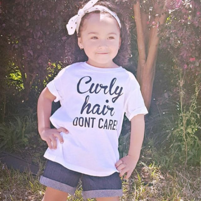 Tops Shirts T Shirts Clothing Shoes Accessories Curly Hair Don T Care Youth T Shirt Myself Co Ls