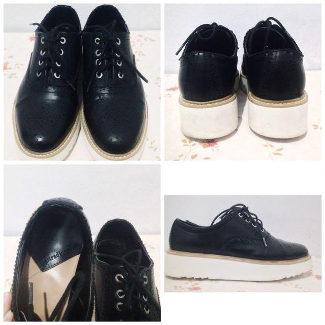 Stradivarius Platform Oxford Shoes