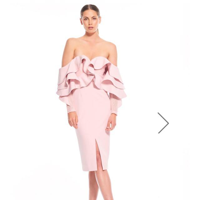 Talulah Pink Off The Shoulder Ruffle Dress