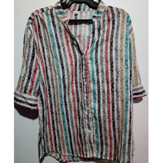 Three-fourth polo blouse