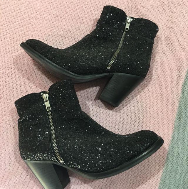 Topshop Sparkle Ankle Boots