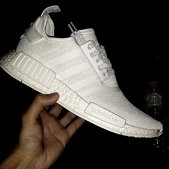 Us8 Adidas Nmd R1 White Reflective Men S Fashion Footwear On