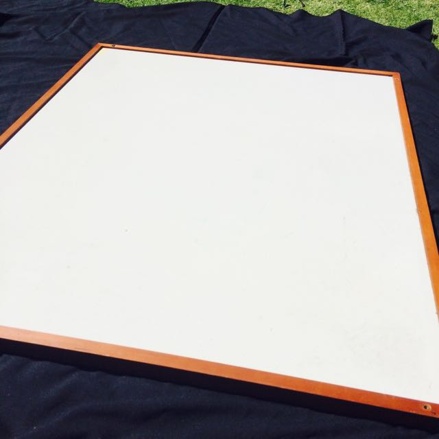 Very Large Whiteboard With Solid Wood Frame