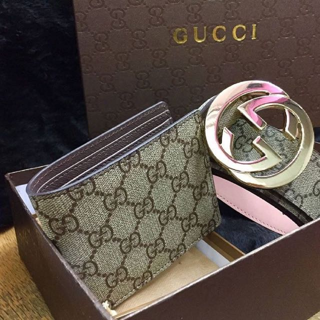 832d8ac61f2014 wallet & belt gucci combo, Men's Fashion, Bags & Wallets on Carousell