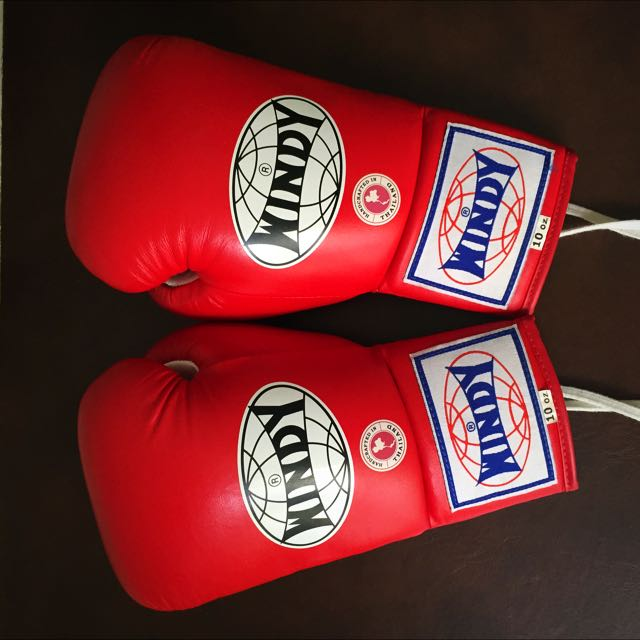 Windy 10oz Lace Up Boxing Glove Sports Sports Games Equipment On Carousell