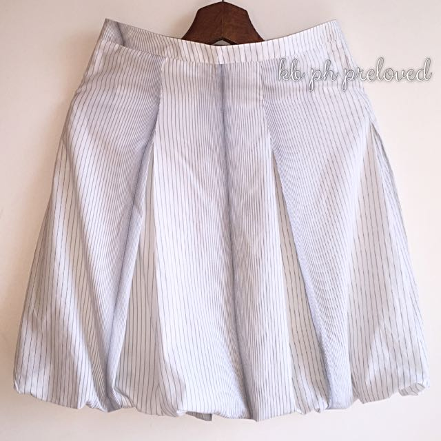 Zara white bubble skirt