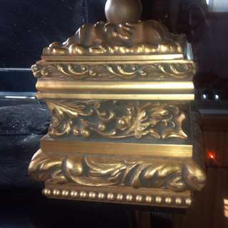 Gold colored jewelry box
