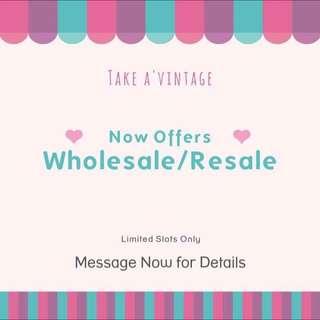 Wholesale/Resale