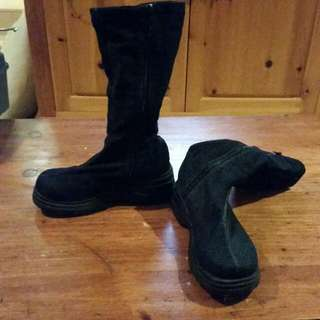 Kid's Black Boots