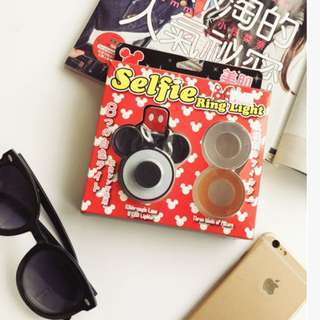🚚 🇯🇵日本熱賣!米奇手機平板美肌補光燈/廣角鏡頭