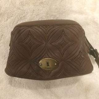 Fossil Leather Makeup Bag