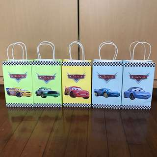 Disney Cars Handmade Paper Bag/ Party Bag/ Goodie Bag