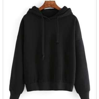 Basic Black Hoodie  (ROMWE)