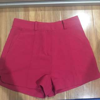 High Waisted Pink Shorts Size 6