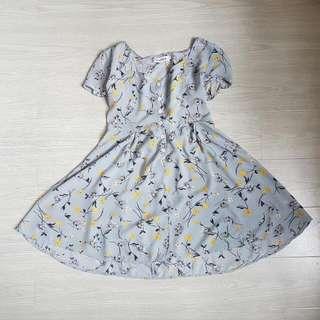Blue Floral Dress Size 6