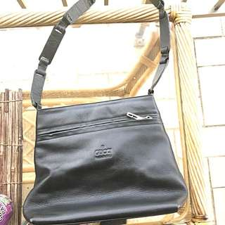 GUCCI Black Leather Handbag