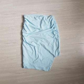 Kookai Blue Size 1 Midi Oyster Skirt