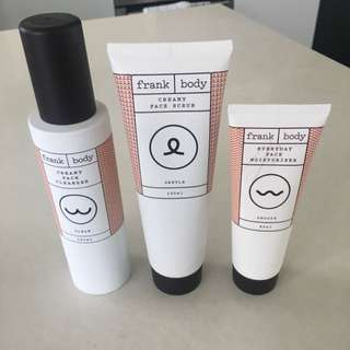 Frank Bod Skincare Set - Face Wash, Scrub And Moisturiser