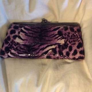 Purple zebra Print Wallet