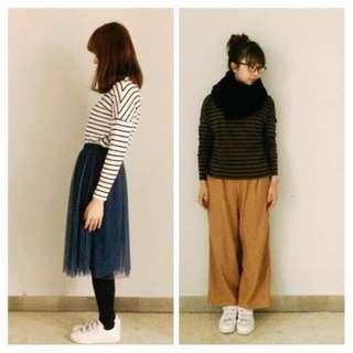 Earth Music & Ecology 日本品牌- 🇯🇵駝色寬褲