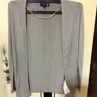 Cotton On Light Gray Cardigan