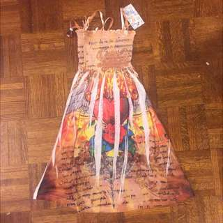 Printed Tube Dress