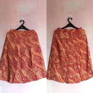 [PRELOVED] Red Batik Skirt