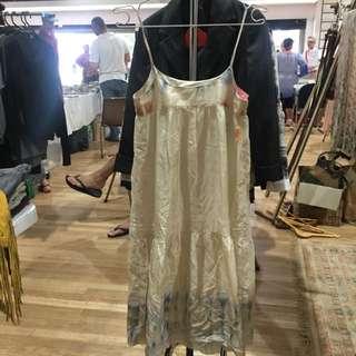 Shibori Tie Dye Habutai Silk Dress
