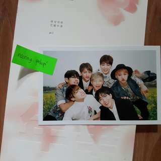 BTS HYYH Pt. 1 Pink Version Photocard: Group