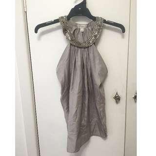 witchery Grey top Size 8