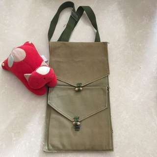 Vintage Military Green Bag for Documents