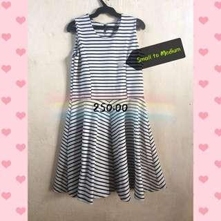 Stripe Blck Wht Dress