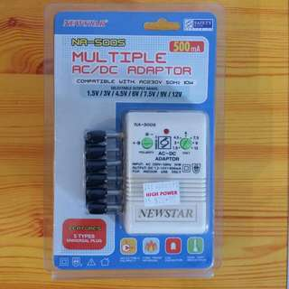 Brand NEW : Selectabe Polarity:  - Multi Voltage AC/DC Adaptor