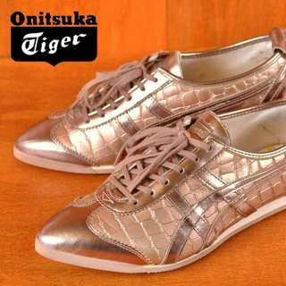 New Original Limited Edition Onitsuka Tiger Pixiegirl Champagne Snake Shoes Sneakers