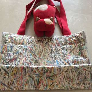 Diaper Bag with Colourful Shredded Paper