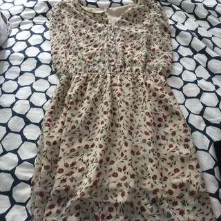 RESERVED Flowery Spring Dress