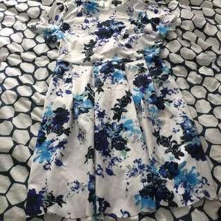 RESERVED Zalora Blue Spring Dress