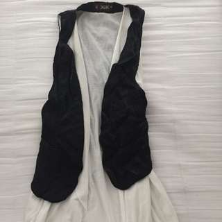 Size 8 Black And White Double Layer Vest