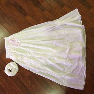White Chiffon Full Skirt